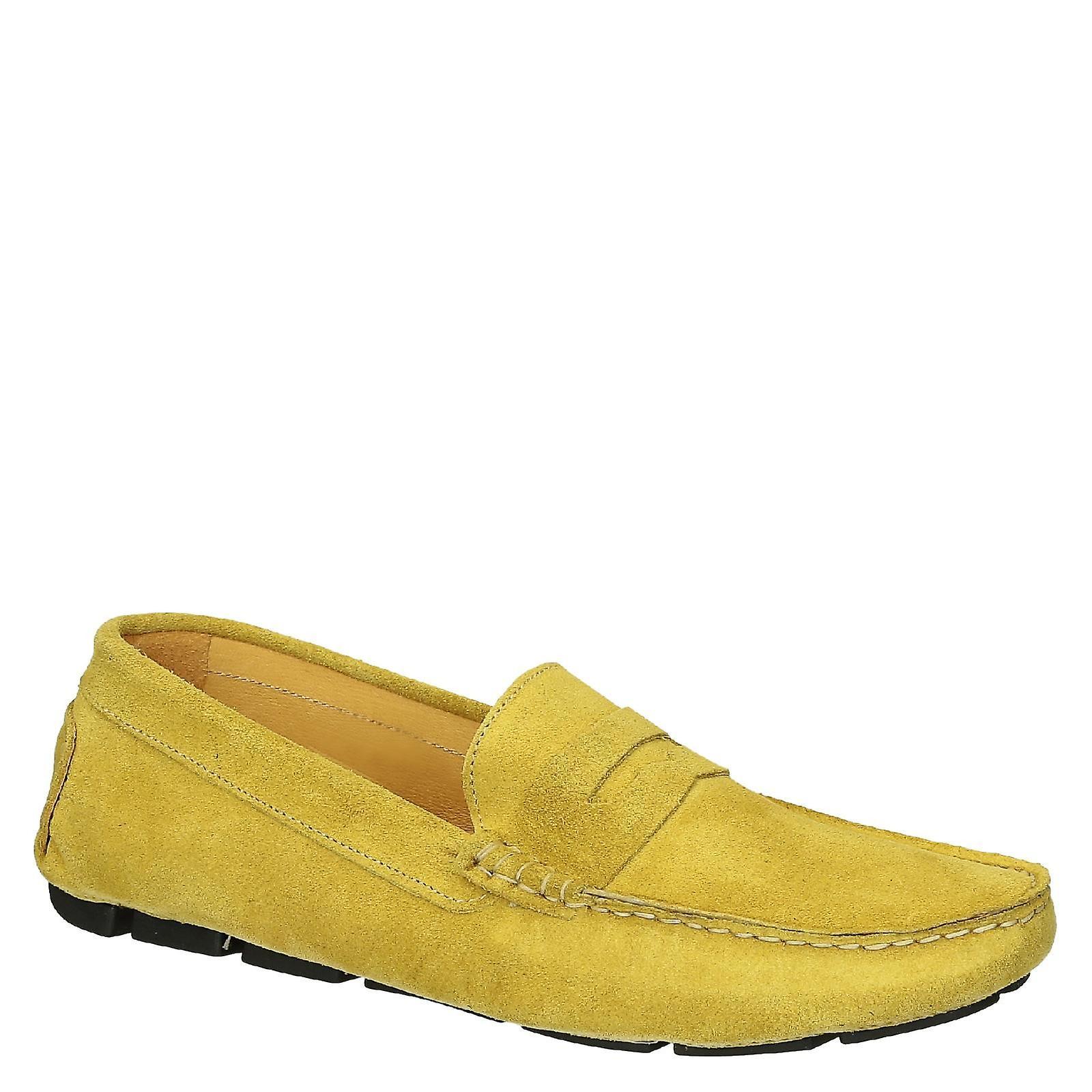 giallo suede leather driving moccasins scarpe for men | Prezzo Pazzesco  | Uomini/Donne Scarpa