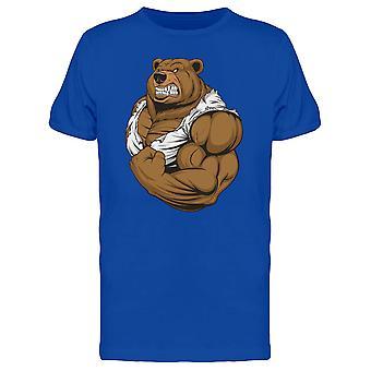 6b5bef2b4fdb Starker Bär zeigt Bizeps T-Shirt Herren-Bild von Shutterstock