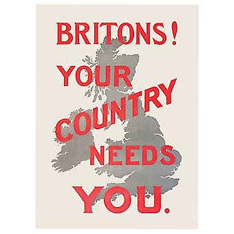 Britons Your Country Needs You Fridge Magnet