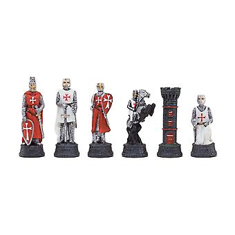 The Crusader Hand Painted themed chess pieces by Italfama