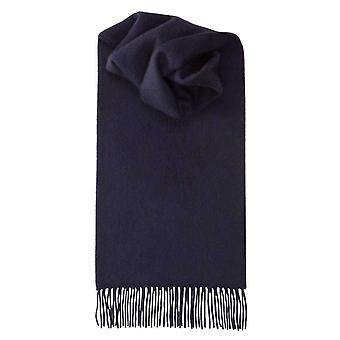 Johnstons of Elgin Lambswool Plain Scarf - Navy