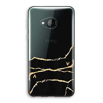 HTC U Play Transparent Case - Gold marble