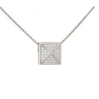 Cavendish French Silver CZ Pyramid Pendant without Chain