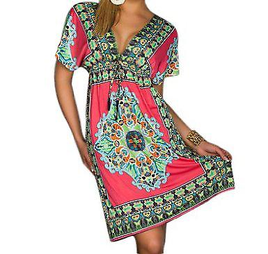 Waooh - Fashion - Waisted Dress style mandala motif