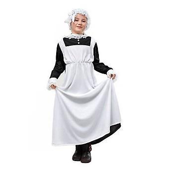 Victoriaanse meid meisje kostuum Medium.