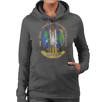 NASA STS 66 Atlantis Mission Abzeichen Distressed Damen Sweatshirt mit Kapuze