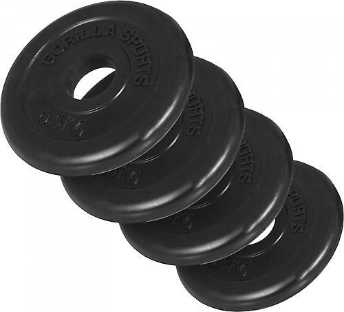 4 x Poids disque en caoutchouc de 0.5 kg