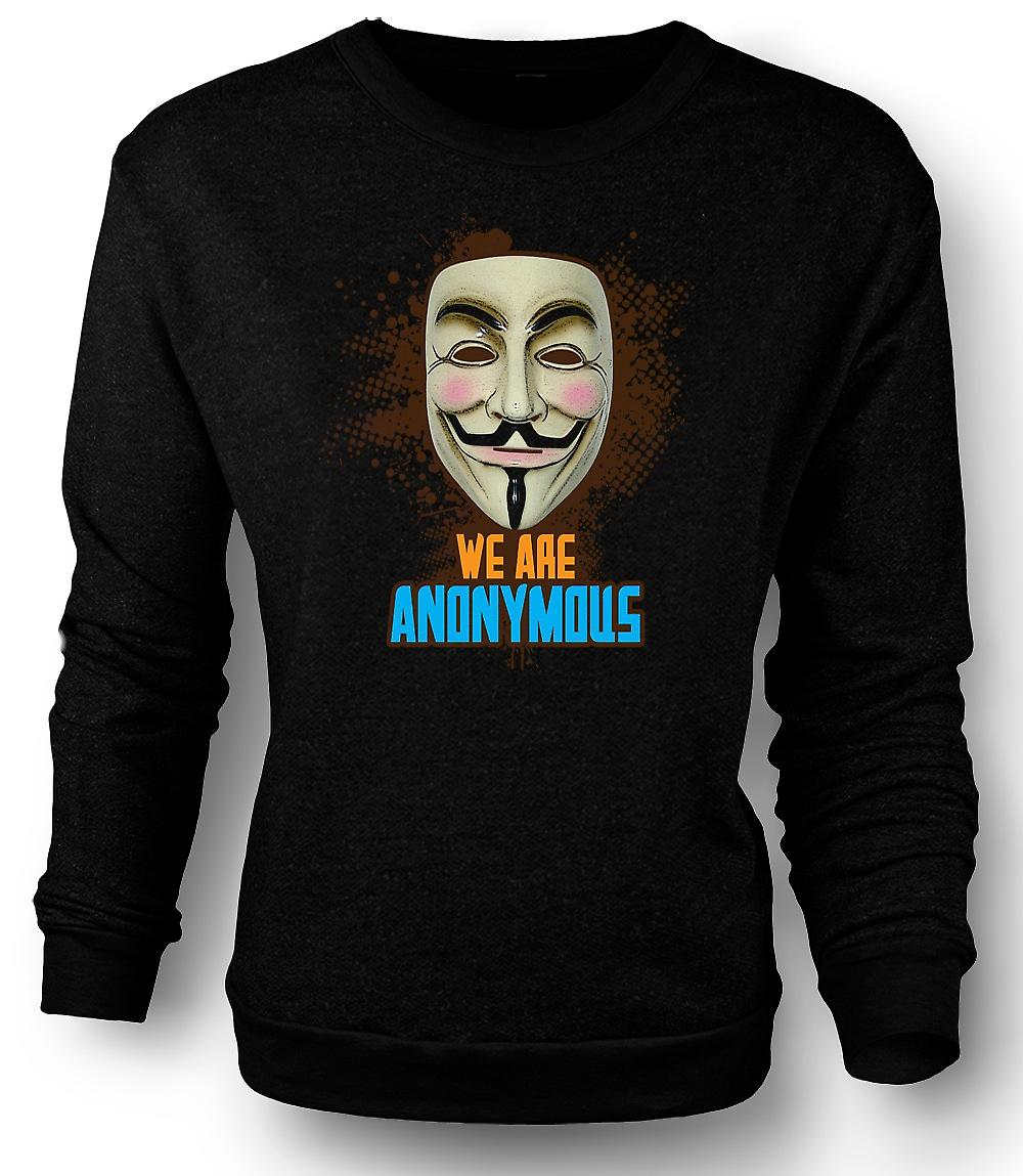 Mens Sweatshirt V For Vendetta Anonymous