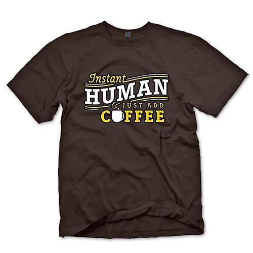 Mens T-shirt - Instant human, just add Coffee