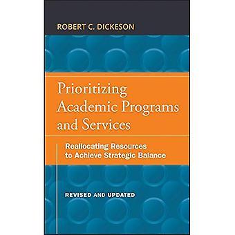 Prioritera akademiska program och tjänster: omfördelning av resurser för att uppnå strategiska balansen