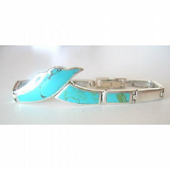Inlay Shell 3 Colors Sterling Silver 92.5 Bracelet