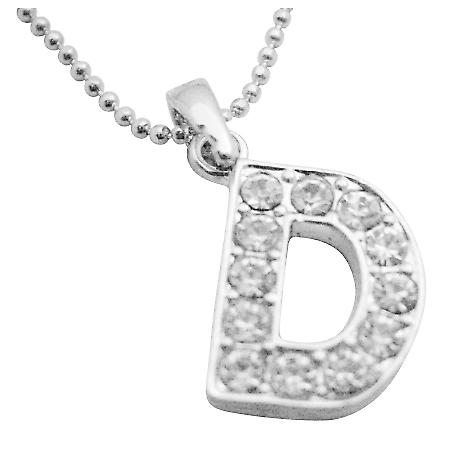Cheap Jewelry Buy Your Name Pendant Start Letter D Sparkling Pendant
