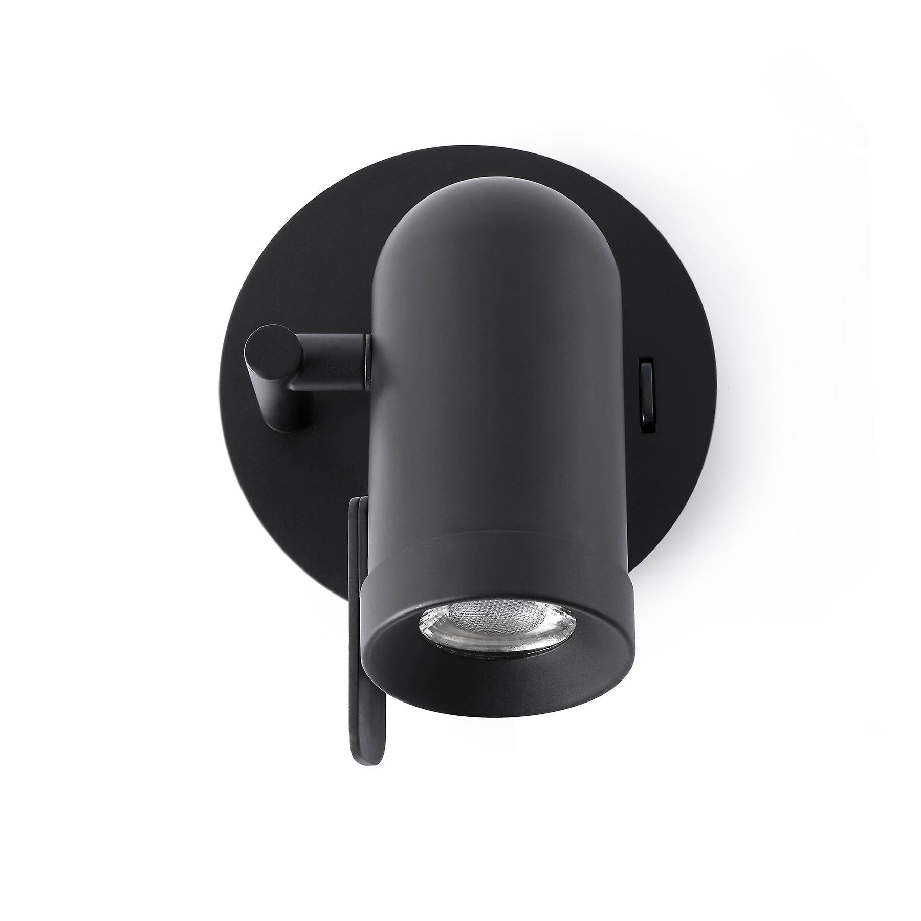 Faro - Orleans noir Single Adjustable Wall Spotlight FARO43521