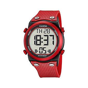 Calypso K5705/5-Unisex wristwatch, plastic, colour: Red