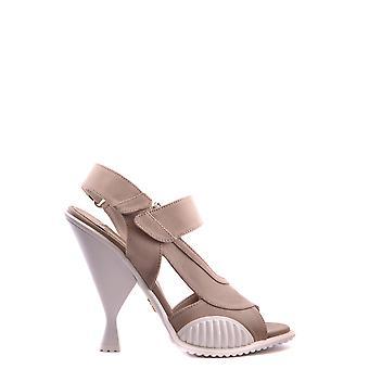 Prada Beige Fabric Sandals