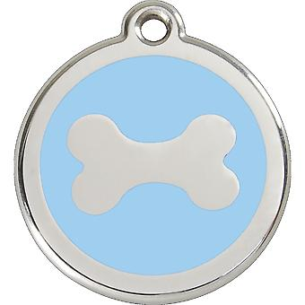 Red Dingo Pet Collar Identification Tag - Bone