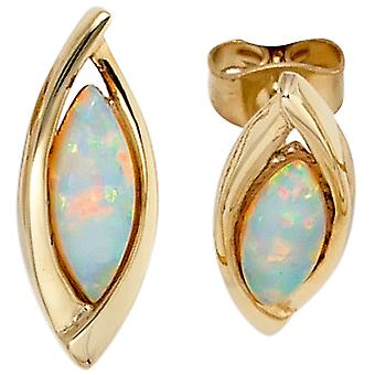 Opal earrings 375 Gold Yellow Gold 2 opal earrings gold gemstone earrings