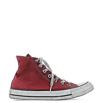 Converse Red Cotton Hi Top Sneakers