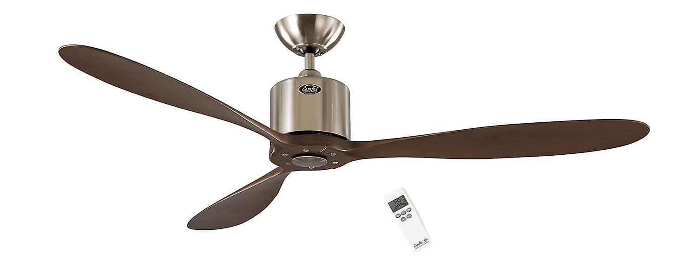 DC Ceiling fan Aeroplan Eco Chrome   Walnut 132cm   52& 034;