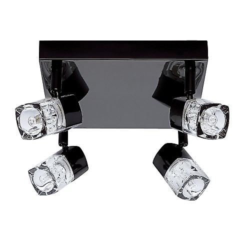 Searchlight 7884BC Blocs Modern Square Ceiling Light With Clear Cube Glass