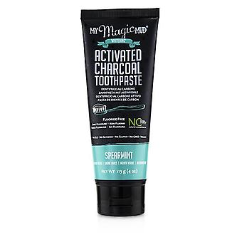 My Magic Mud Activated Charcoal Toothpaste (Fluoride-Free)-Spearmint 113g/4oz