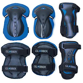 Junior Protective Pad Set (XS) - Elbow Pads, Wrist Pads and Knee Pads - Blue-