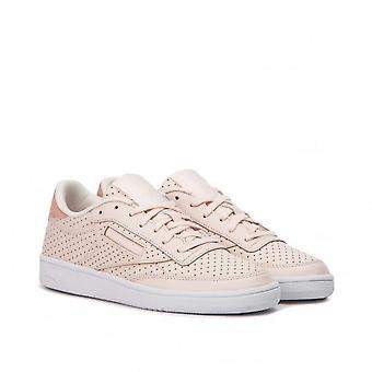 Reebok Womens Club C Popped Low Top Lace Up Running Sneaker