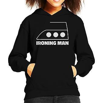 Ironing Man Kid's Hooded Sweatshirt
