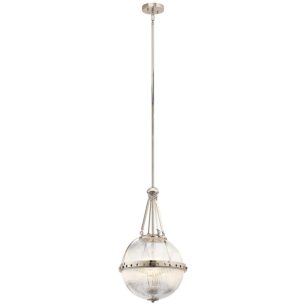 Elstead - 3 Light Pendant - Polished Nickel - KL ASTER P PN