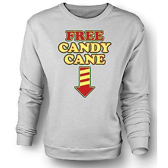 Womens Sweatshirt Free Candy Cane - Funny Christmas