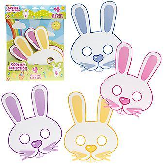 Påske tema våren Collection 4 Bunny masker