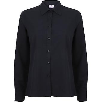 Henbury - Women's Ladies Wicking Antibacterial Long Sleeve Shirt