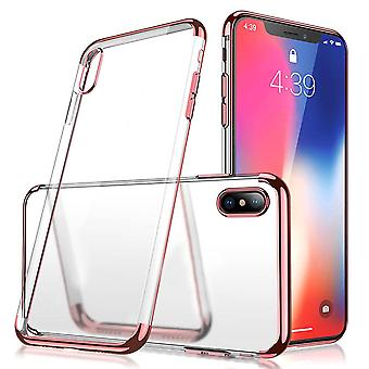 Custodia posteriore Chiaro per Apple iPhone X / Xs oro rosa