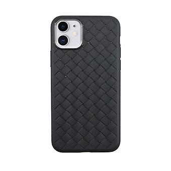 iPhone 11 Case Weave Texture Back Shell Black
