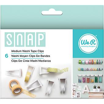 Snap Storage Washi Tape Clips 6/Pkg-Medium 662589