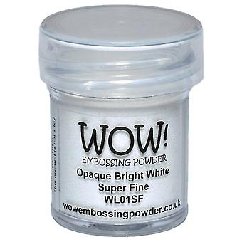 Wow! Embossing Powder Super Fine 15Ml Opaque Bright White Wow Sf Wl01