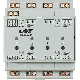 HomeMatic Wireless switching actuator 91836 4-channel DIN rail 3680 W