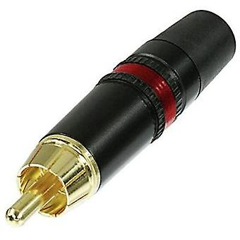 RCA connector Plug, straight Number of pins: 2 Black, Red Rean AV NYS 373-2 1 pc(s)