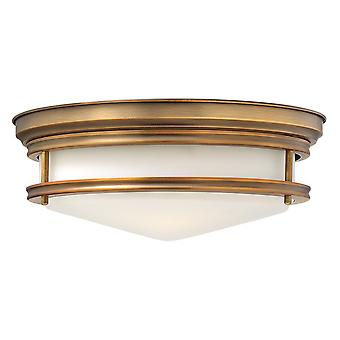 Hadley Traditional Retro Flush Ceiling Light with Glass Shade