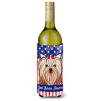 Yorkie Yorkshire Terrier Wine Bottle Koozie Hugger BB2134LITERK