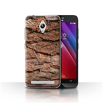 STUFF4 Case/Cover for Asus Zenfone Go ZC500TG/Layered/Brown/Tree Bark