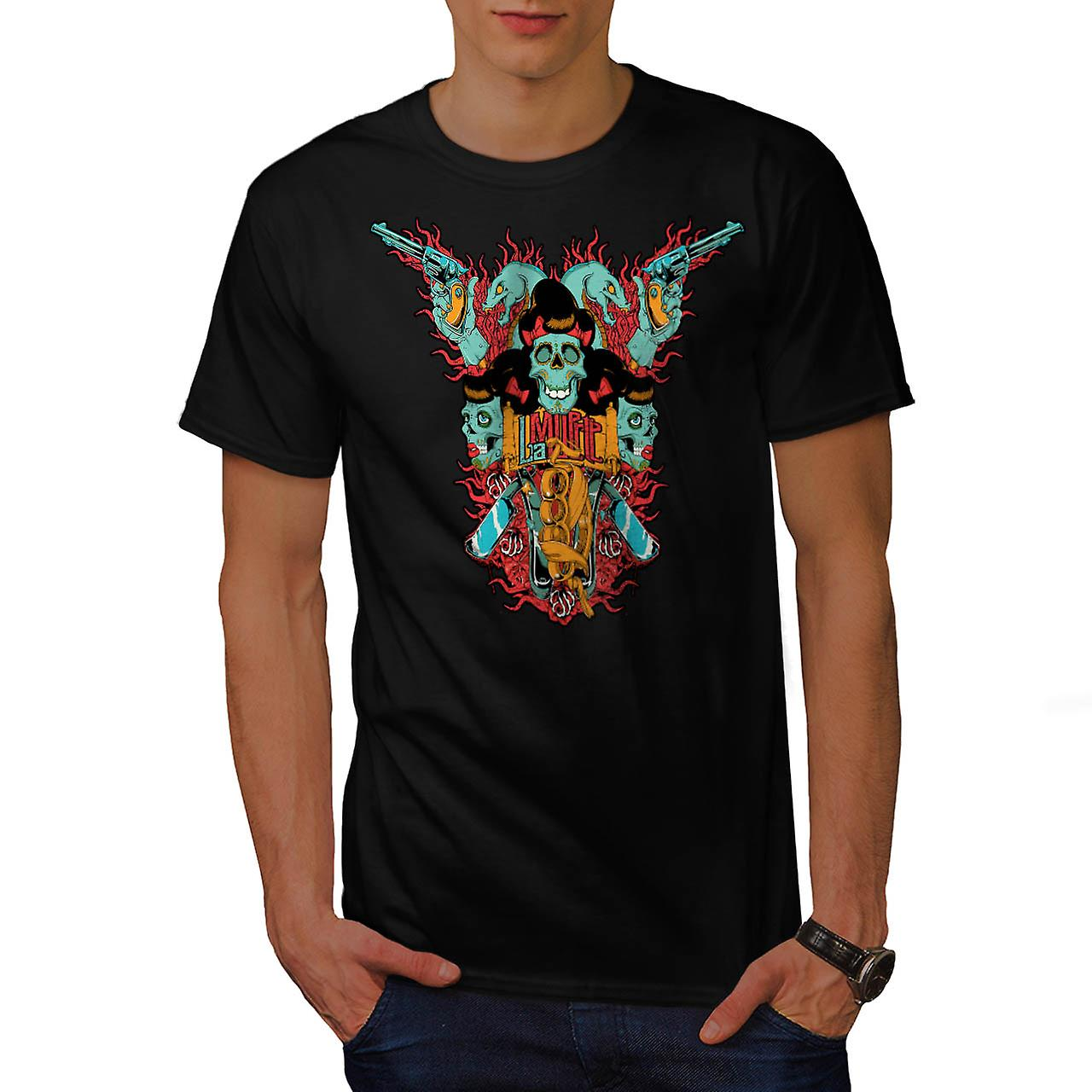 Skull Blade Monster Gang Fight Men Black T-shirt | Wellcoda