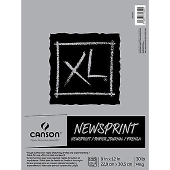 Canson XL Rough Newsprint Paper Pad 9