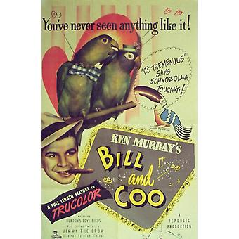 Bill und Coo Movie Poster drucken (27 x 40)