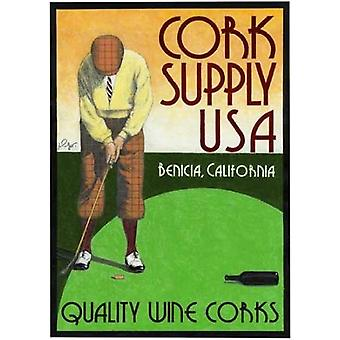 Cork putting Poster Print by Jean Pierre Got
