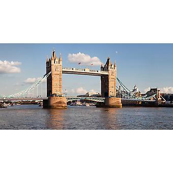 Тауэр Бридж Темза Лондон Англия Плакат Печать