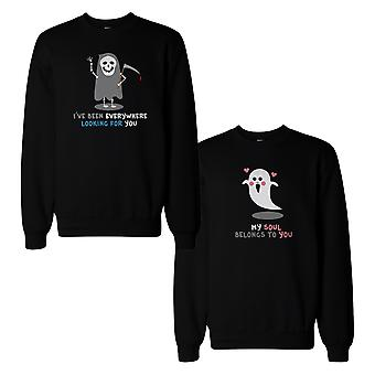 Death Eater And Ghost Couple Sweatshirts Halloween Matching Tops