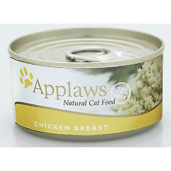 Applaws kat kan kyllingebryst 156g (Pack af 24)
