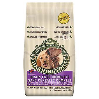 Harringtons komplet hund korn frie Tyrkiet 1,75 kg (pakke med 6)