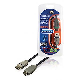 Bandridge Displayport to HDMI ® High Speed cable 2.0 m